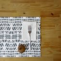 black drops placemat