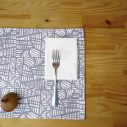 mosaic gray placemat