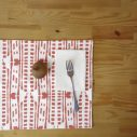 red drops placemat
