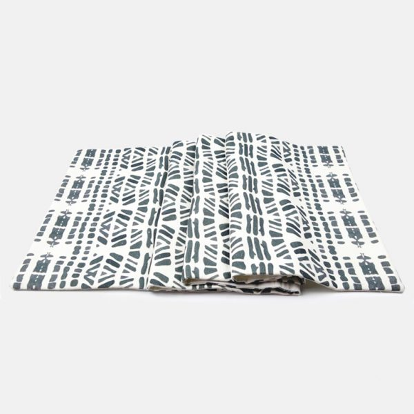 Black drops table runner