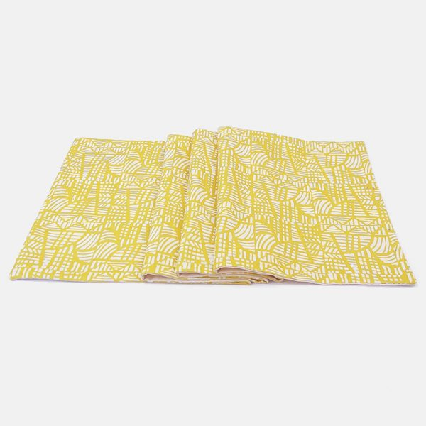 mosaic yellow table runner